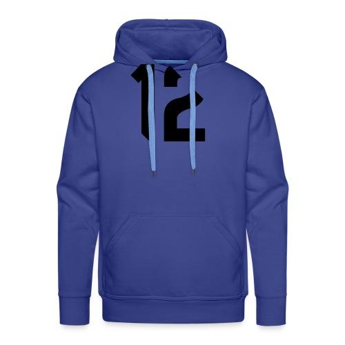 12 black - Sweat-shirt à capuche Premium pour hommes