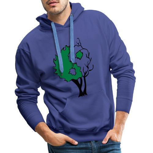 Yin Yang Arbre - Sweat-shirt à capuche Premium pour hommes