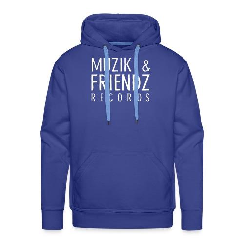 Muzik & Friendz Records Logo 2 - Mannen Premium hoodie