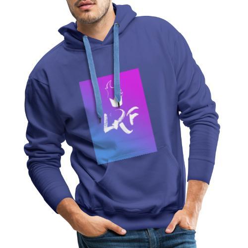 LRF rectangle - Sweat-shirt à capuche Premium pour hommes
