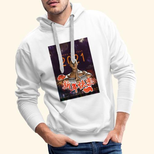 Gordon Liu as San Te - Warrior MonK - New Year - Mannen Premium hoodie