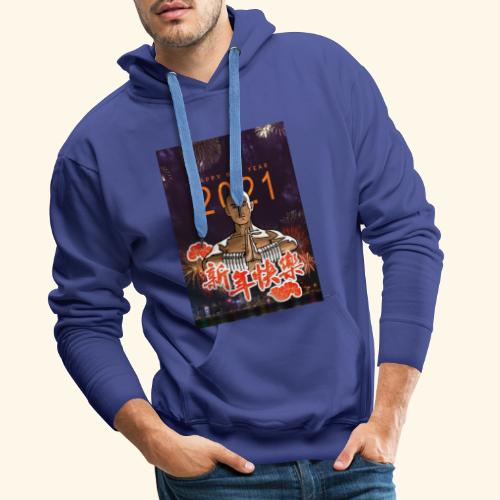 Gordon Liu as SanTe - Warrior Monk - Happy NewYear - Mannen Premium hoodie