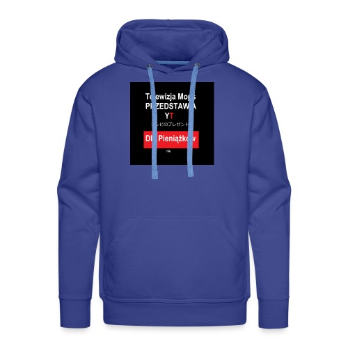 Telewizja Mops przedstawia - Bluza męska Premium z kapturem