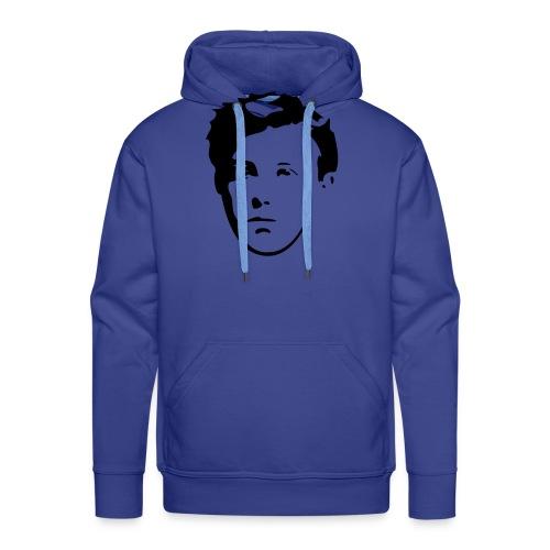 Arthur Rimbaud visage - Sweat-shirt à capuche Premium pour hommes