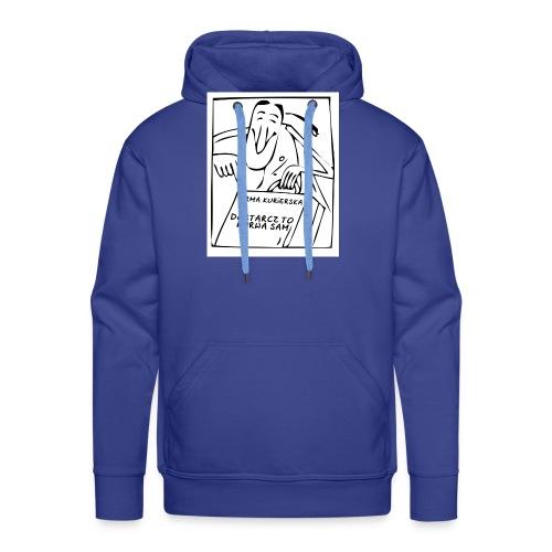 firma kurierska przod - Bluza męska Premium z kapturem
