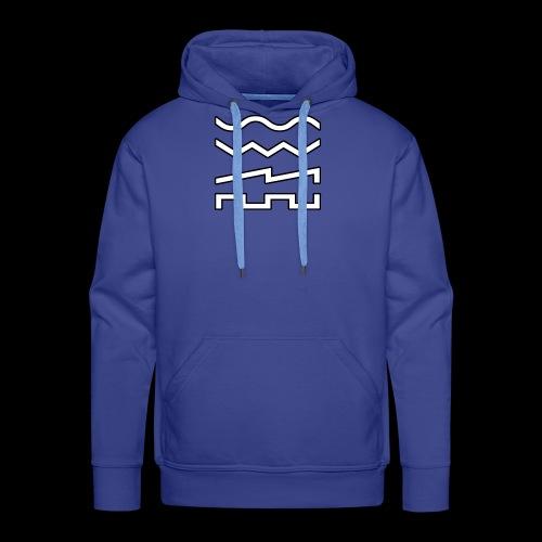 Waveforms Synth - Sweat-shirt à capuche Premium pour hommes