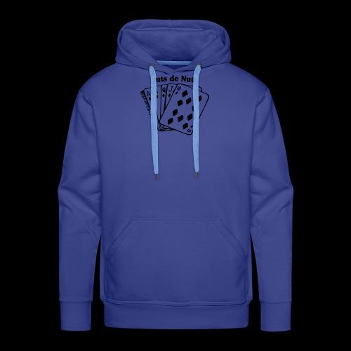 Royal Huts de Nuts Zwart - Mannen Premium hoodie
