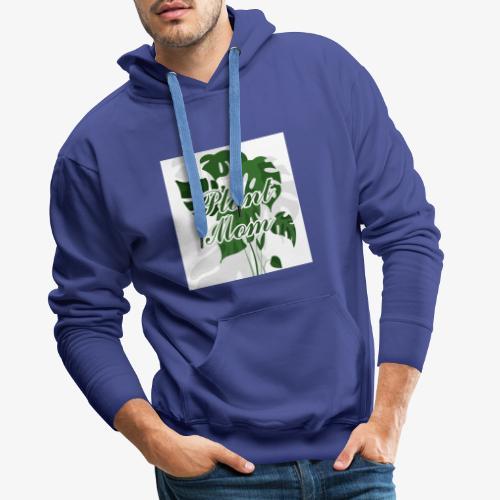 Plant Mom - Bluza męska Premium z kapturem