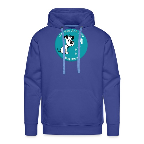 One Paw at a Time Logo - Men's Premium Hoodie