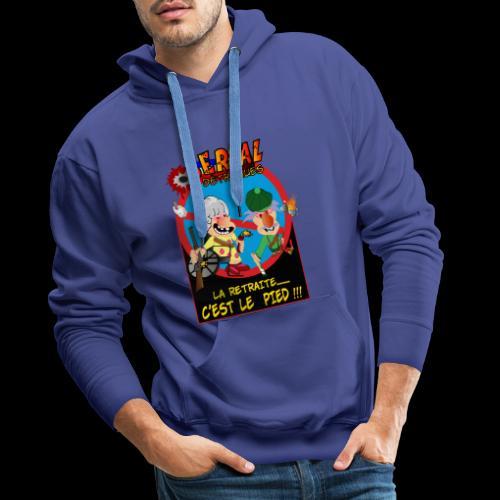 Couple à la retraite - Sweat-shirt à capuche Premium pour hommes