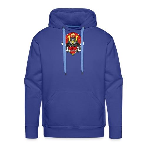Samouraï Casque Démon - Sweat-shirt à capuche Premium pour hommes