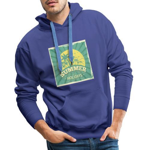 conception lettres ete - Sweat-shirt à capuche Premium pour hommes