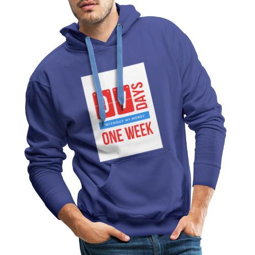 one weEk seven days - Sweat-shirt à capuche Premium pour hommes