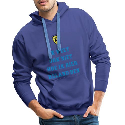 Lui paard beland - Mannen Premium hoodie