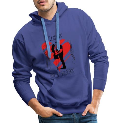 ilovemywife - Sweat-shirt à capuche Premium pour hommes