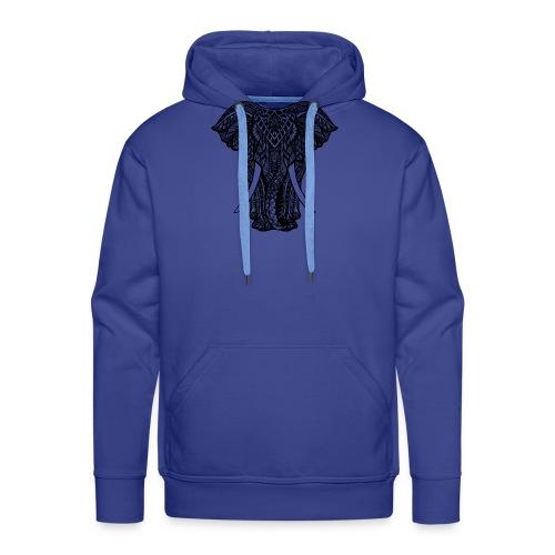 Elephant - Bluza męska Premium z kapturem