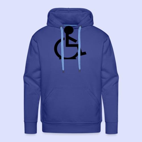 Rolstoel gebruiker met platte band - Mannen Premium hoodie
