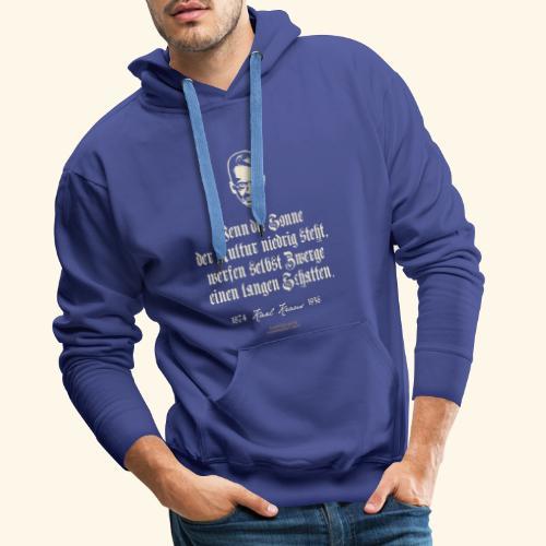 T-Shirt Zitat Karl Kraus über Kultur - Männer Premium Hoodie