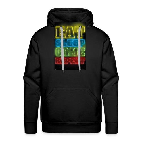 eat sleep game repeat - Mannen Premium hoodie