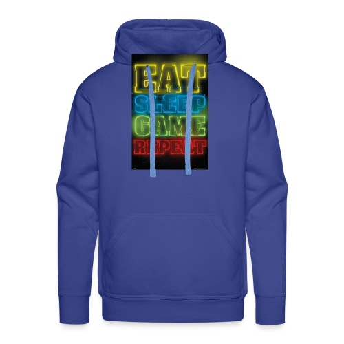eat sleep game repeat - Mannen Premium hoodie