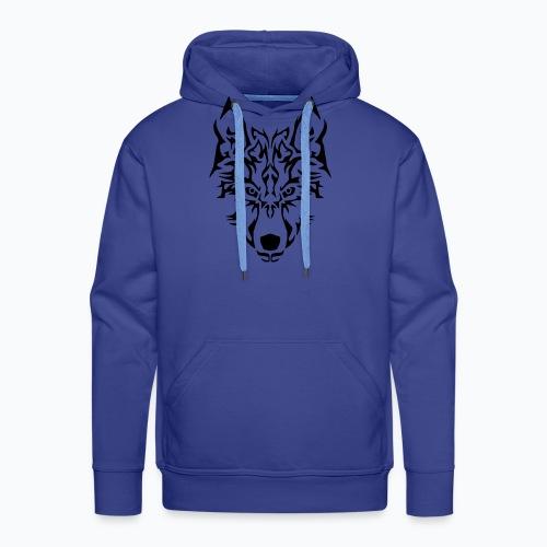 Tribal Wolf - Sweat-shirt à capuche Premium pour hommes