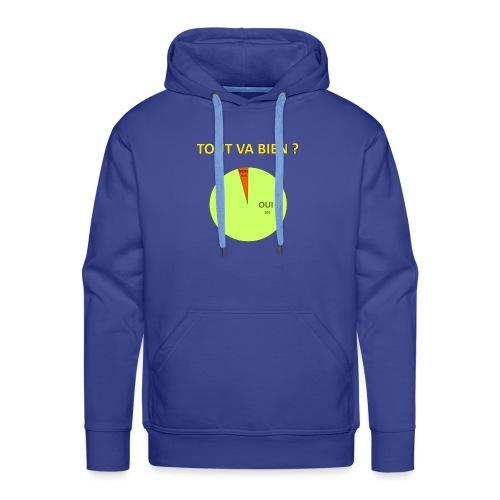 DEFAKATOR Tout Va Bien ? - Sweat-shirt à capuche Premium pour hommes