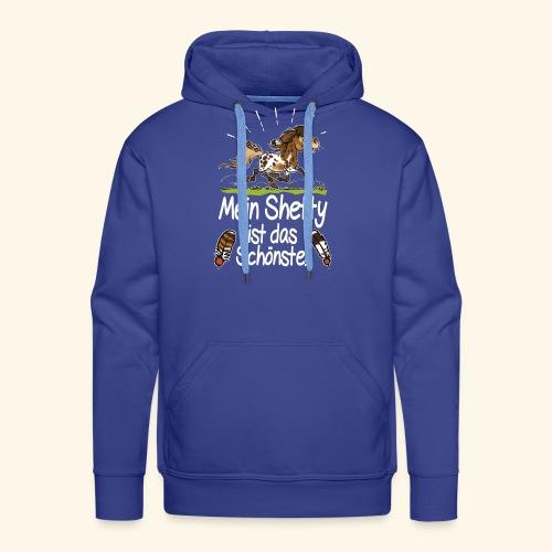 Mein Shetty das Schönste (Text weiss) - Sweat-shirt à capuche Premium pour hommes
