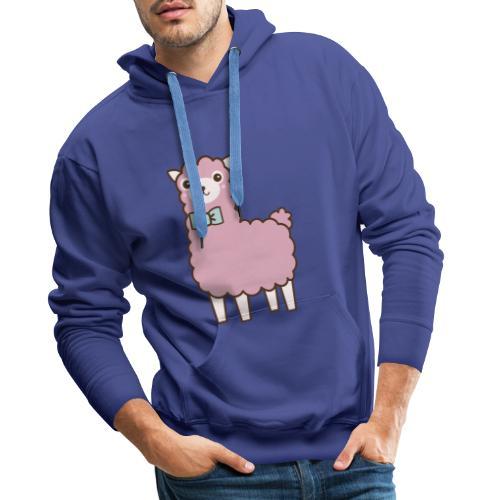 fluffy Lama - Männer Premium Hoodie