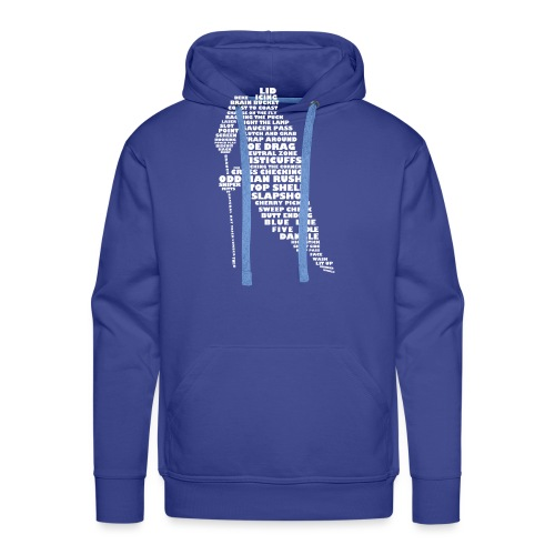 Language of Hockey (White) - Men's Premium Hoodie