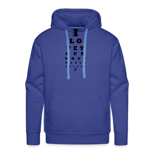 GoGo for GAGA - I love you more than Lady G... - Men's Premium Hoodie