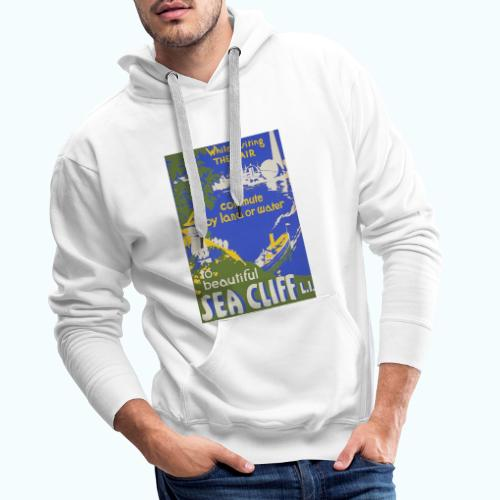 Lake travel vintage poster - Men's Premium Hoodie