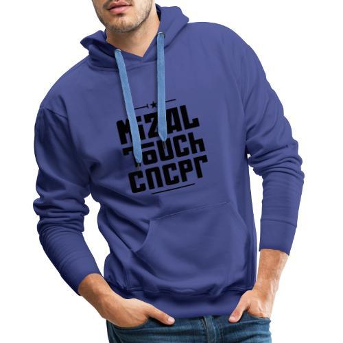 Logo MiZAL Touch Concept - Sweat-shirt à capuche Premium pour hommes