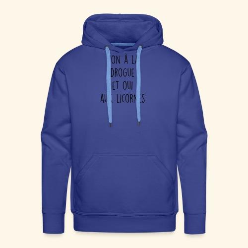 Citation drole - Sweat-shirt à capuche Premium pour hommes