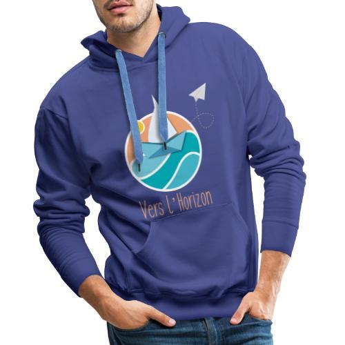 logo vers l'horizon - Sweat-shirt à capuche Premium pour hommes