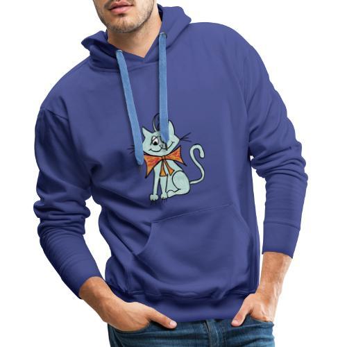 NIedliche blaue Katze - Männer Premium Hoodie
