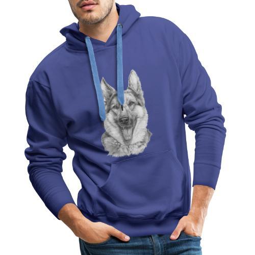 Schæfer German shepherd - Herre Premium hættetrøje