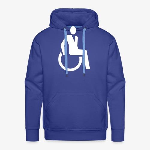 Sjieke rolstoel gebruiker symbool - Mannen Premium hoodie