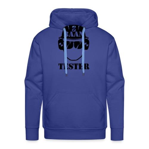 Achtbaan tester tshirt van Baas Bots - Mannen Premium hoodie