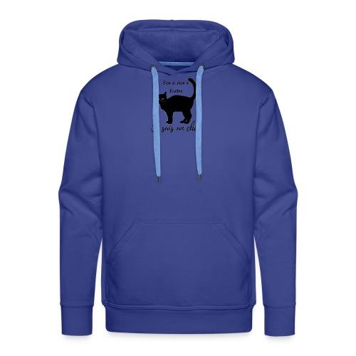 Rien a foutre, je suis un chat ! - Sweat-shirt à capuche Premium pour hommes