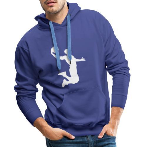 White energetic dunk - Sweat-shirt à capuche Premium pour hommes