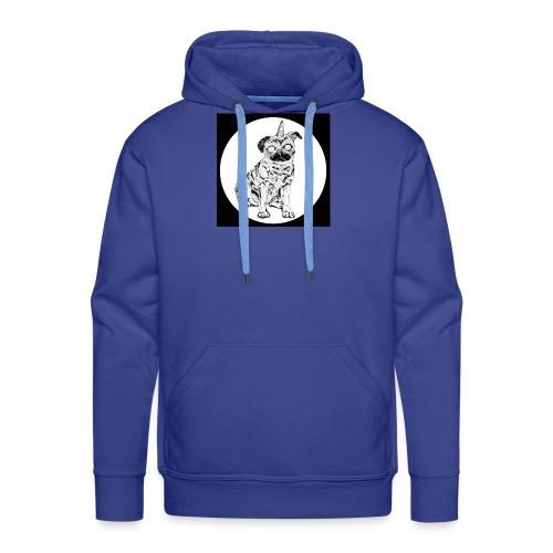 rysunek Pies-Jednorożec - Bluza męska Premium z kapturem