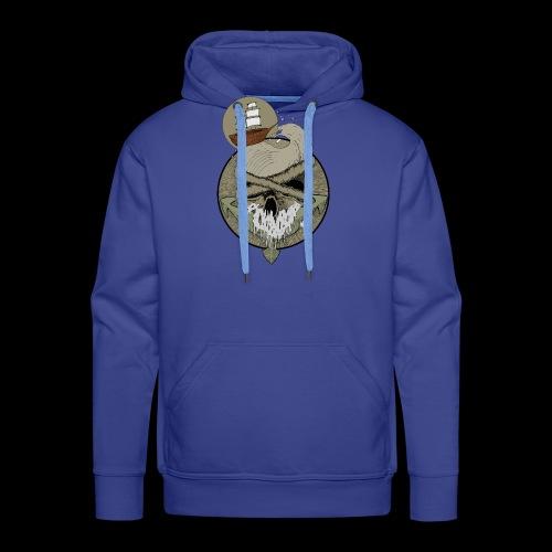 Ancre skull - Sweat-shirt à capuche Premium pour hommes