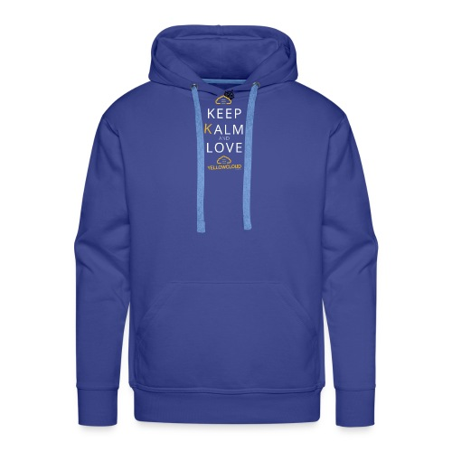 Keep kalm and love YellowCloud ! - Sweat-shirt à capuche Premium pour hommes