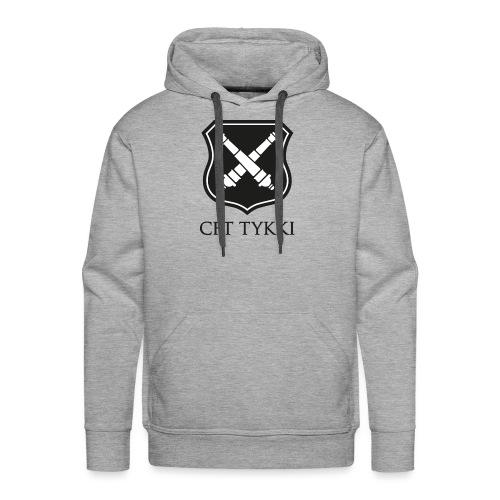 Tykki logo musta - Miesten premium-huppari