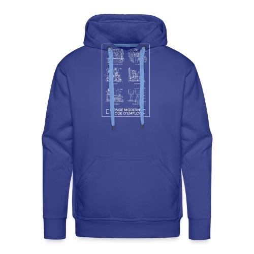 monde moderneblanc png - Sweat-shirt à capuche Premium pour hommes