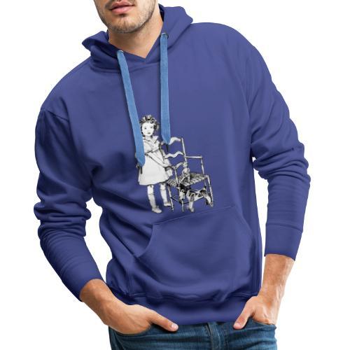 Nelly et sa chaise - Sweat-shirt à capuche Premium pour hommes