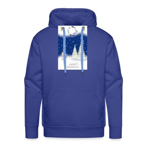 LICORNE BLANCHE NOËL MERRY CHRISTMAS - Sweat-shirt à capuche Premium pour hommes