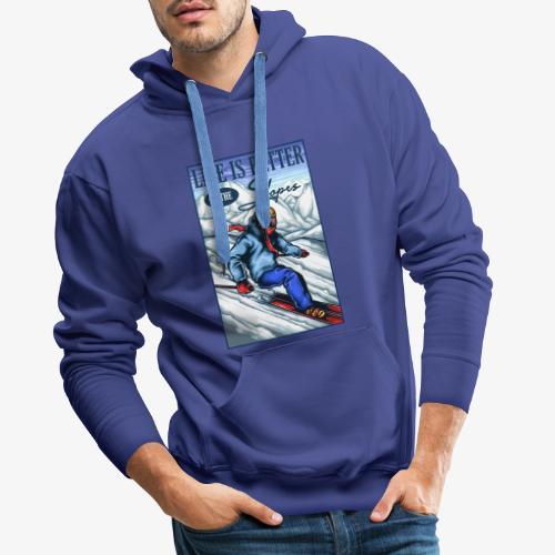 Ski Life - Sweat-shirt à capuche Premium pour hommes