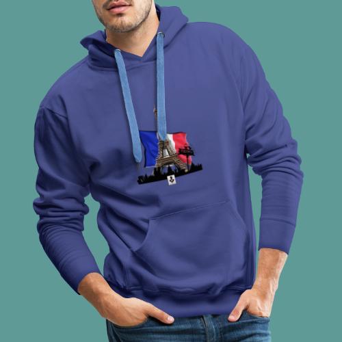 Tee shirt marque mutagene PARIS - Sweat-shirt à capuche Premium pour hommes