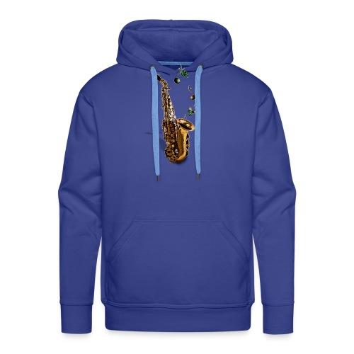 Saxophone - Sweat-shirt à capuche Premium pour hommes